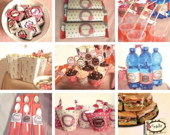 Fashion Birthday Party Theme – DIY Food Decoration Package Printable - non personalized - Instant Download