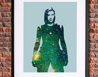 Starbuck Battlestar Galactica Poster  | 8x10 Instant Download Printable | Science Fiction | Sci Fi Character