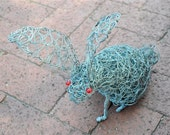 Rustic Red eyed Rabbit (African wire sculpture)