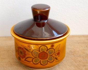 Vintage Royal Worcester Palissy Sugar Bowl  Casual Tableware | 1960s- Floral Design