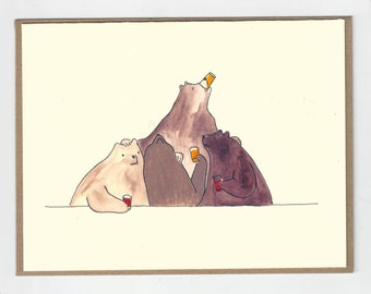 Bear Party / Greeting Card