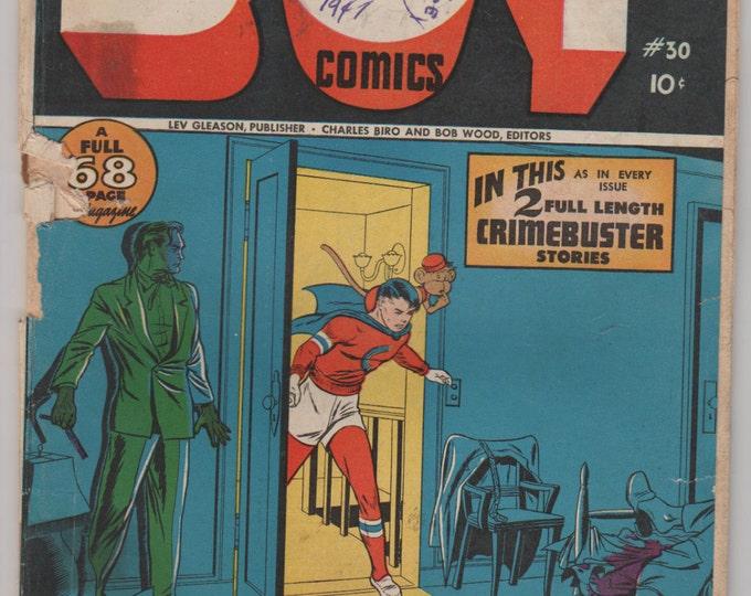 Boy Comics; Vol 1, 30 Golden Age Comic Book. FR/GD  Oct 1946.  Lev Gleason Publications.