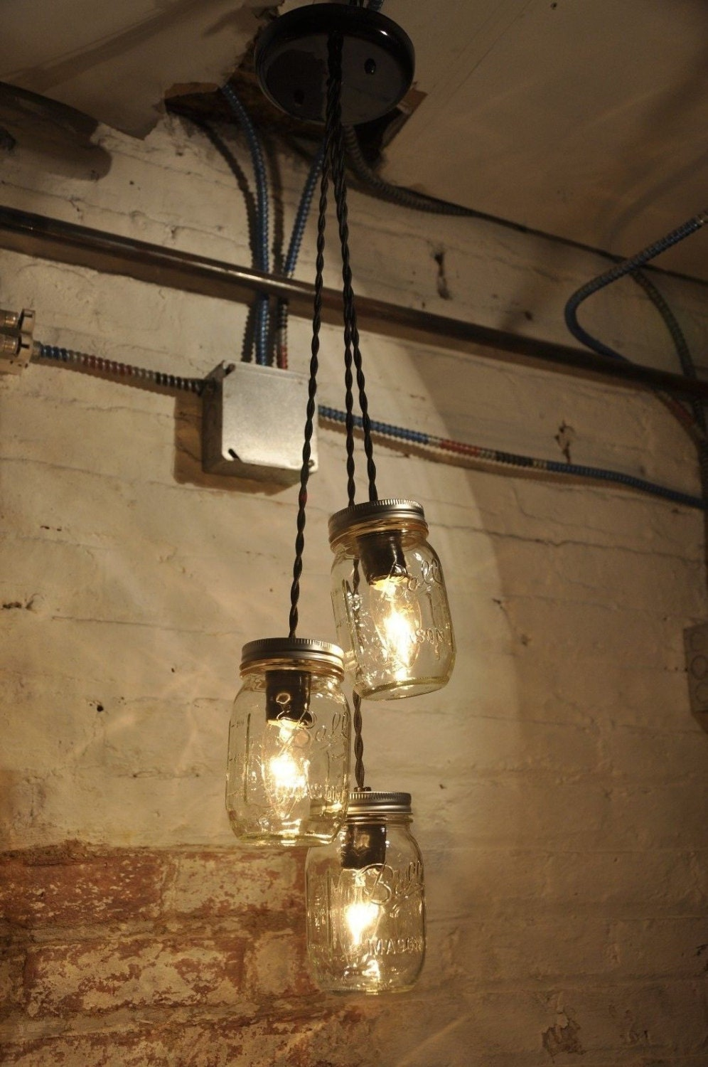 Mason Jar Chandelier Mason Jar Pendant Light Fixture By