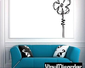 Flower Vinyl Wall Decal Or Car Sticker - Mv005ET