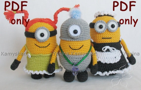 Cute little yellow monsters crocheted amigurumi PDF by ...