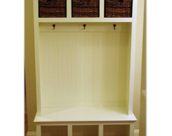 Entry Storage Furniture mudroom locker system organization cubby cabinet entryway