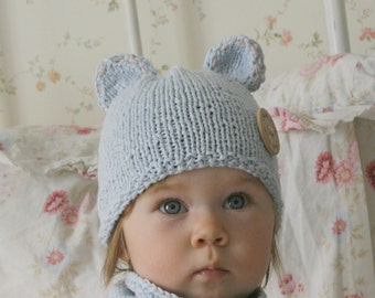 FREE KNITTING pattern Mouse hat and cowl set with a cute tail