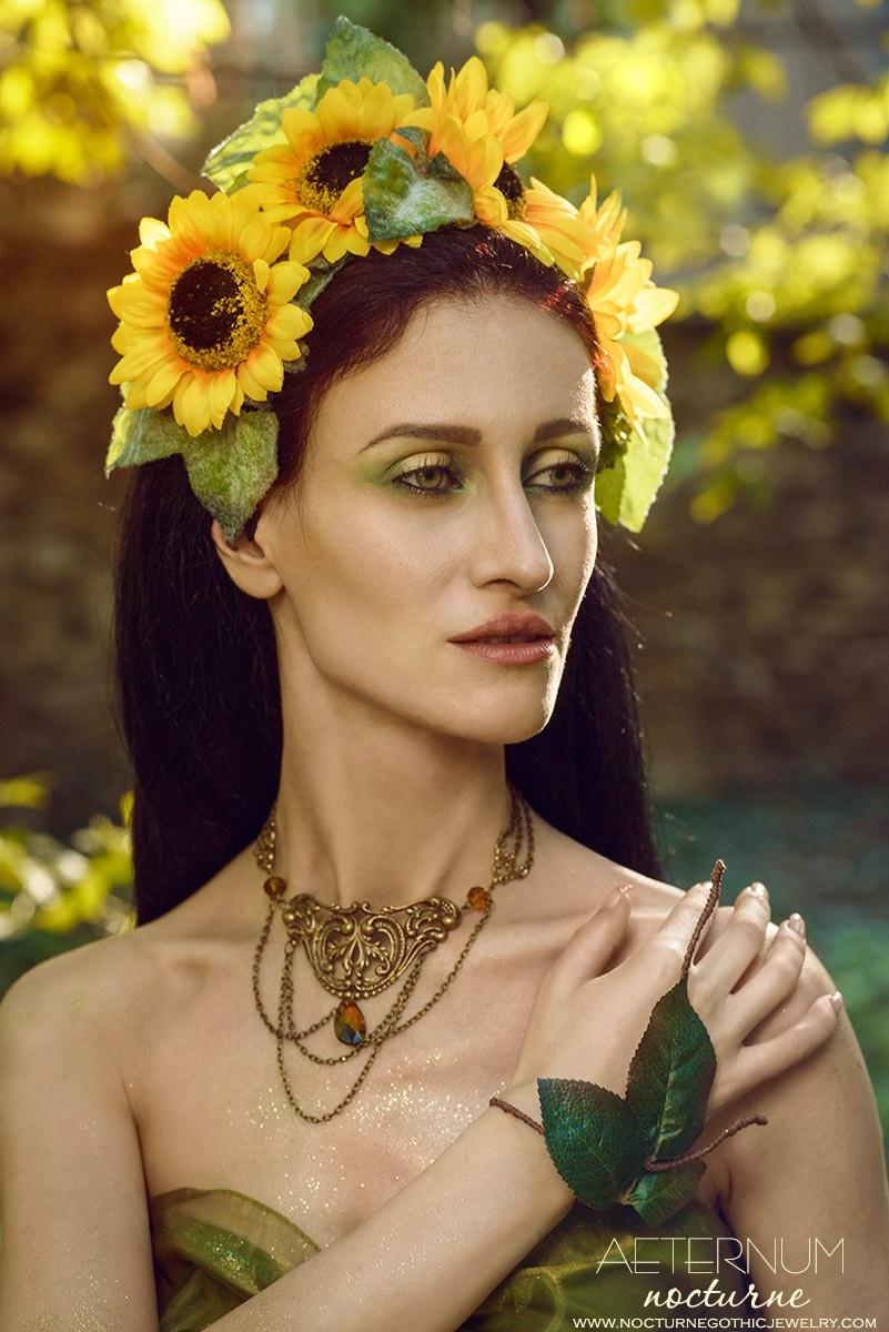 Sunflower flower Headdress costume hair accessory