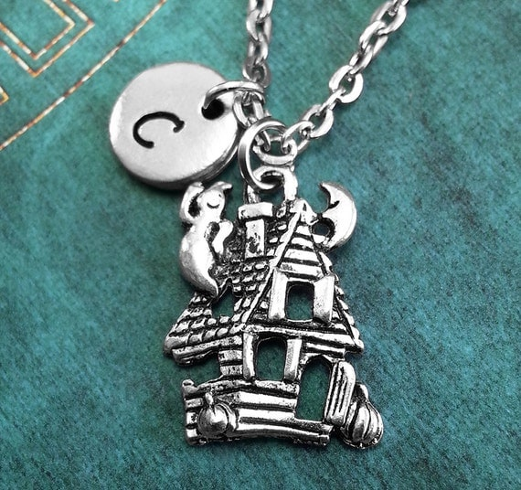 us jewelry house haunted house necklace jewelry personalized 9458