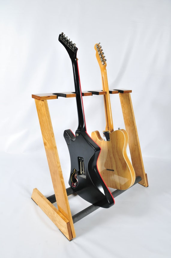 Handcrafted Wooden Guitar Stands ~ Handcrafted wooden guitar stand from allwood by allwoodstands