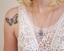 Vintage butterfly temporary tattoo / vintage temporary tattoo / butterfly accessoire / butterfly jewelry / bohemian temporary tattoo / boho