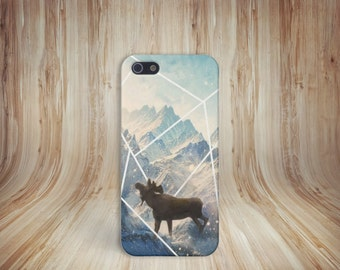 Moose Mountains Snow Phone Case, Anima, Nature iPhone 6 iPhone 6 Plus Tough iPhone Case, Galaxy s8, Samsung Galaxy Case, Note 5, CASE ESCAPE