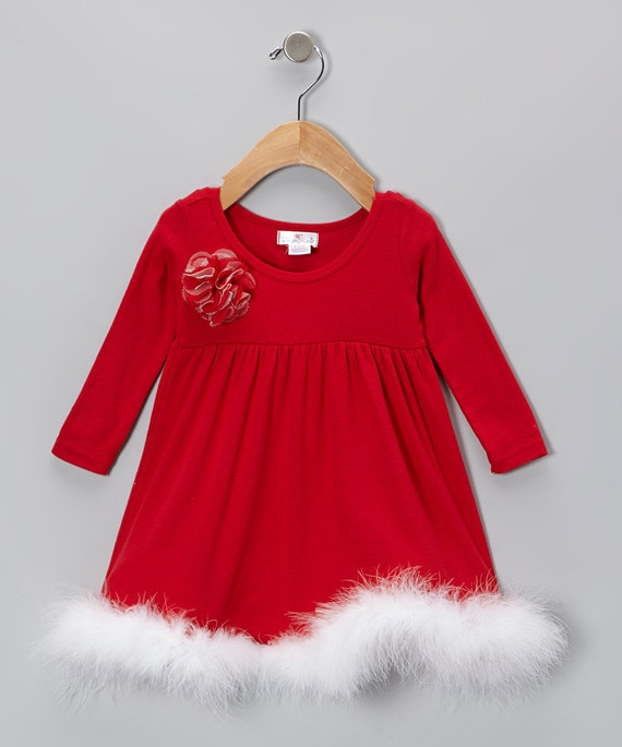 Baby Christmas Dress Red by Tesababe on Etsy