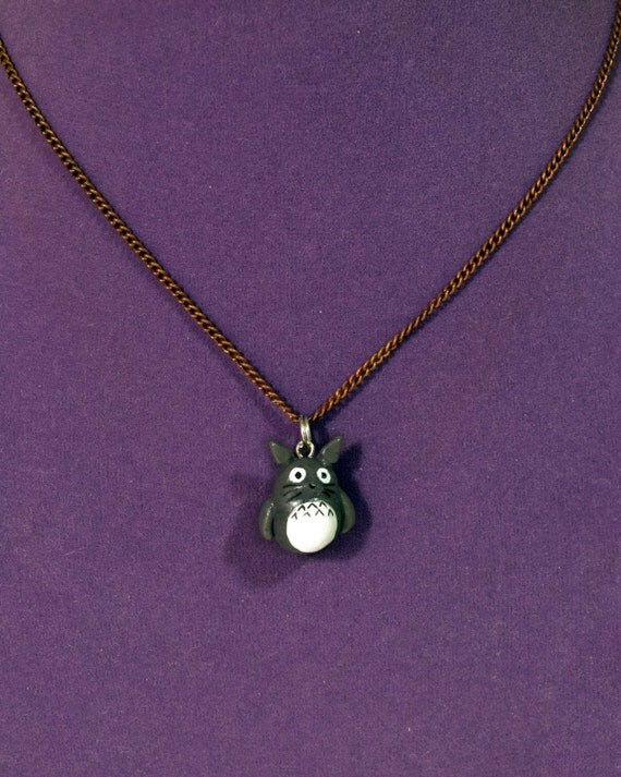 totoro necklace clay totoro pandant totoro charm by