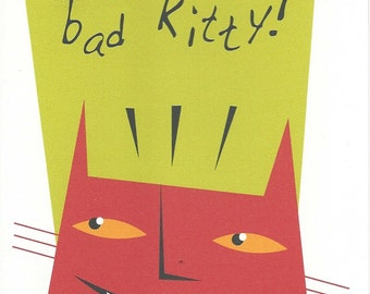 Bad Kitty Cat Card