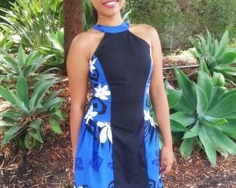 Color Block, Tahitian Print Dress