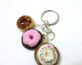 Needle felted donut key chain Needle Felted key chain Donut Pendant Felted Jewelry Donut Jewelry Felted Key Chain Donut Charm