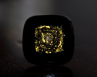 Ring of glass fused style ethnic