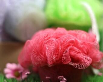 Flowering Bath Poofs