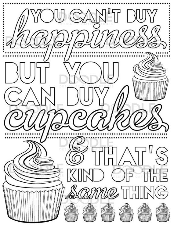 items similar to instant download you can t buy happiness but you can buy cupcakes typography