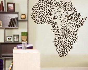 Leopard Vinyl Decal Leopard Sticker Cheetah Decal Cheetah Spots Decal Cheetah Wall Decal Leopard Wall Decal Leopard Cheetah Wall Art