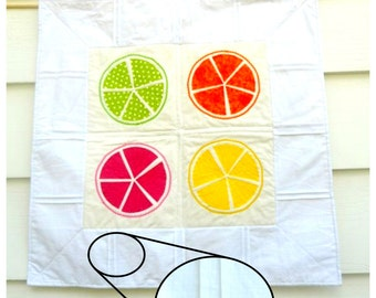 Citrus Pleats: A Pleated Quilt Pattern