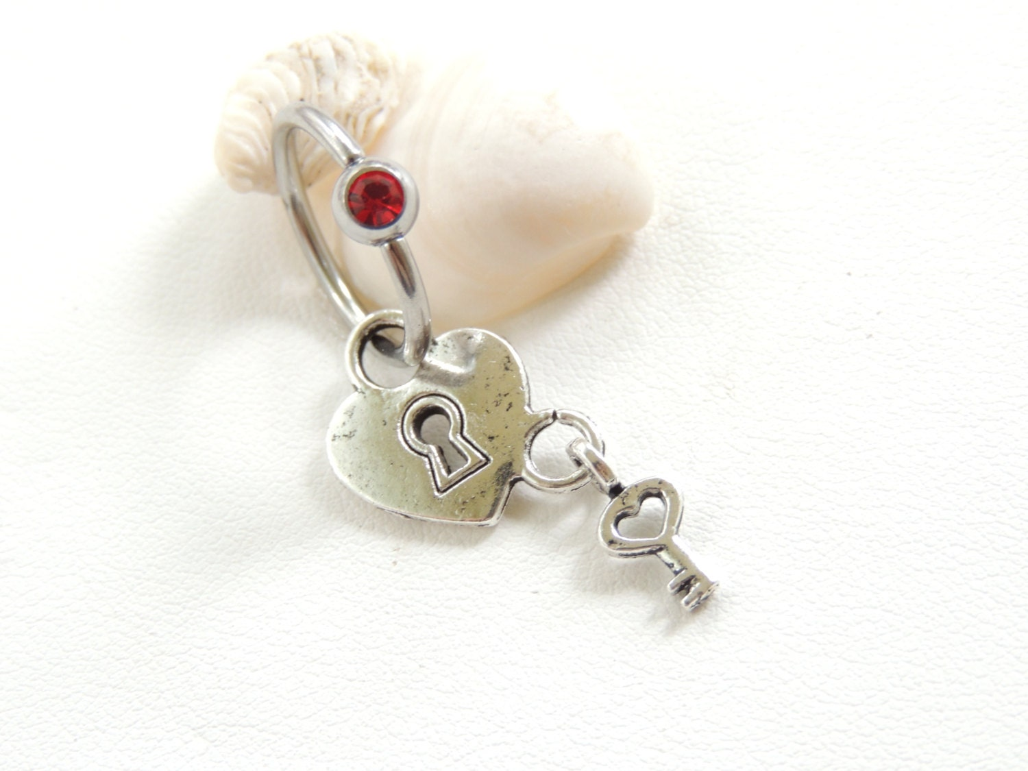 Sale Lock And Key Captive Belly Button Ring Captive Navel