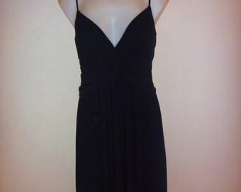 Black Handkercheif Hem Dress