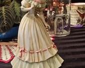 Handpainted porcelain victorian figurine