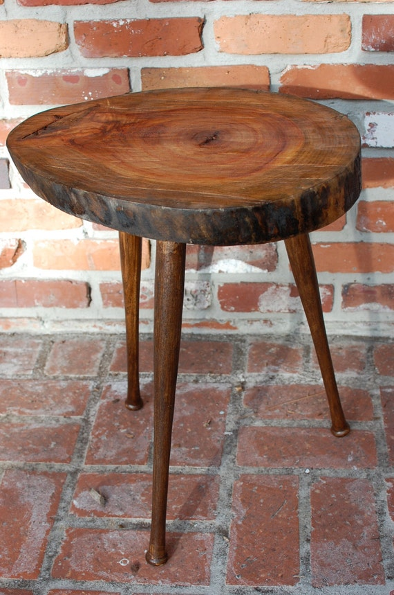 Reclaimed Wood Furniture Tree Slice Table By