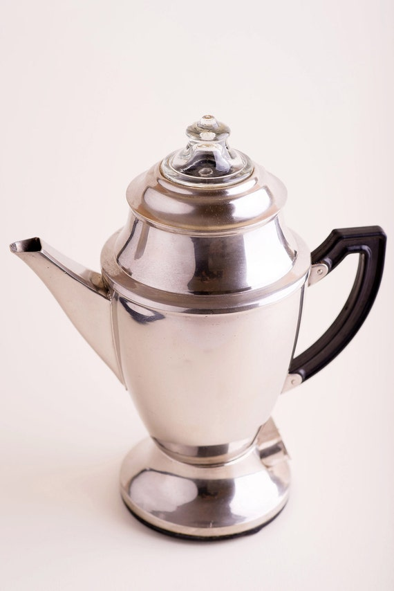 How To Use Vintage Coffee Maker : Vintage Coffee MAKER MACHINE Percolator by TuTuVintageBeautiful