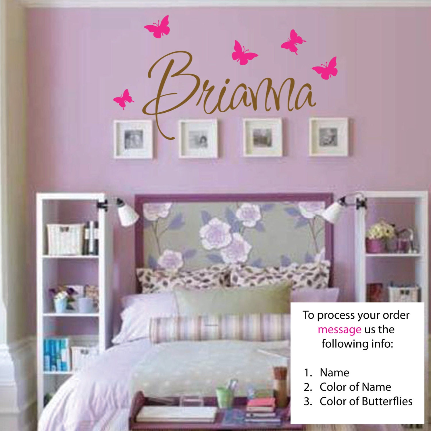 Name Wall Decals For Nursery Tags: Name Wall Decal Nursery Wall Decal Teen Name Wall Decals