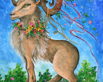 Aries - Watercolor - Star Sign -  Print from Original Paintings - Zodiac Series