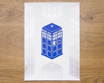 TARDIS screen-print
