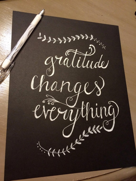 Hand Sketched Gratitude Changes Everything