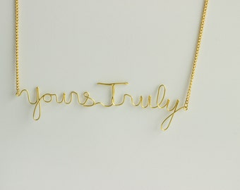 Lyric Necklace - Yours Truly