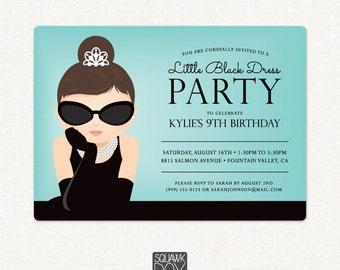 Birthday Invitation – Little Black Dress Party – Printable Invitation by Squawk Box Studio