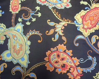 Neon Paisley Upholstery Fabric - Upholstery Fabric By The Yard - Floral Fabric - Floral Fabric By The Yard - Abstract Fabric