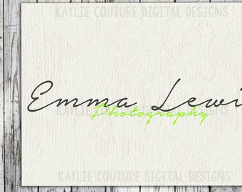 Premade Photography Watermark - Black - Green - Premade Logo - Premade Brand - Photography Logo - photographer logo - watermark - premade