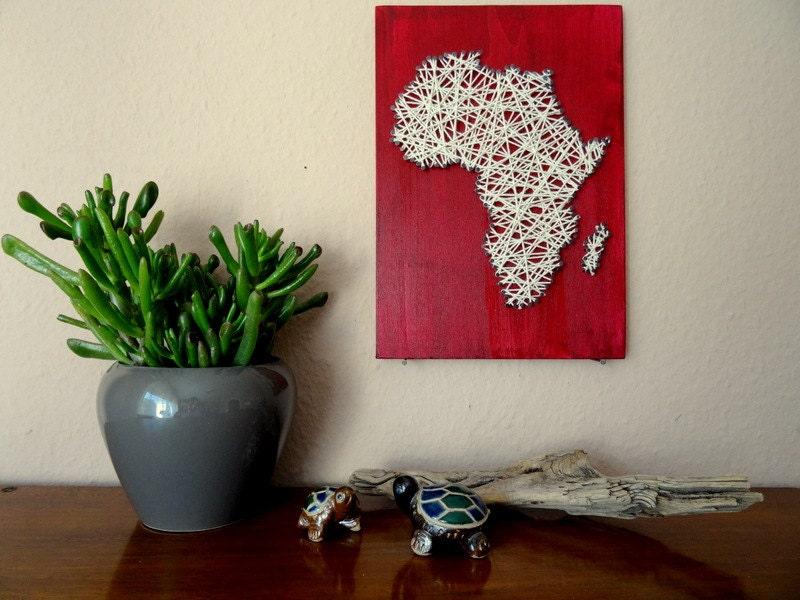 Landkarte afrika wand dekoration afrika karte safari - Dekoration afrika ...
