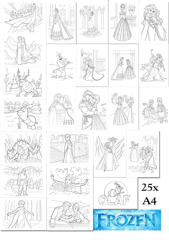Frozen Coloring Pages A4 : Search results for a frozen colouring pages calendar