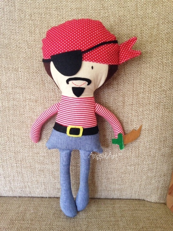 Pirate Toys For Boys : Pirate ahoy plush doll great gift for kids boys toys