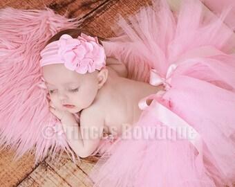 Newborn tutu and Headband, Newborn Tutu, Baby Tutu, Pink Tutu Skirt, Newborn Photography Prop, Pink Baby Tutu and Headband