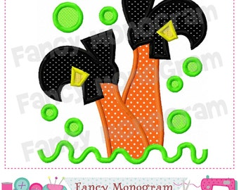 Witch feet applique,Witch applique,Halloween applique,Halloween,Witch feet,Witch design.- 02