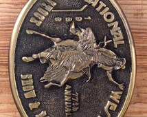 77th Annual National Western Stock Show and Rodeo 1983 Vintage Belt Buckle