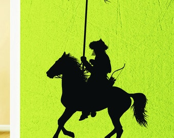 Wall Sticker Vinyl Decal Nomad Golden Horde Warrior Rider Decor (ig1974)