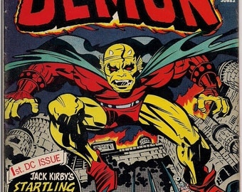 The DEMON #1 1972 Jack Kirby DC Comics Etrigan Camelot Merlin Fourth World Supernatural Cult Monster Anti-SuperHero