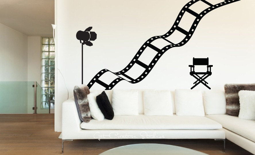 Movie Decal Film Strip Wall Decal Theater By