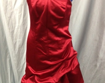 Women's Burgundy w/camouflage accents special occasion dress