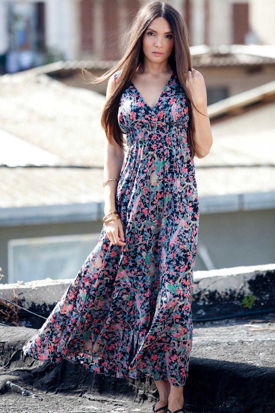 Summer Boho Maxi Dress Hippie Urban Evening Summer Dress